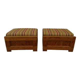 Vintage Rustic Footstools - a Pair For Sale