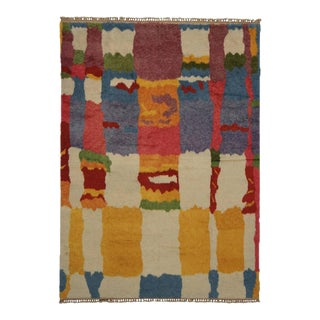 New Colorful Contemporary Tulu Shag Rug With Postmodern Cubism Bauhaus Style For Sale