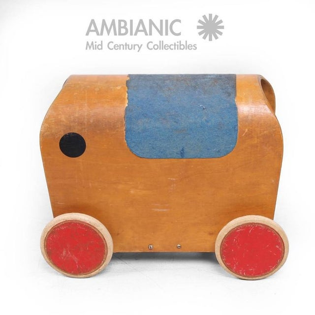 1950s Mid-Century European Elephant Toy Car For Sale - Image 5 of 7