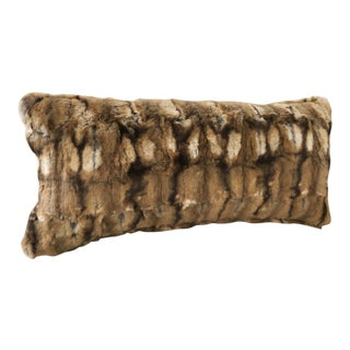Kneedler Fauchere Faux Fur Chinchilla Down Filled Pillow For Sale