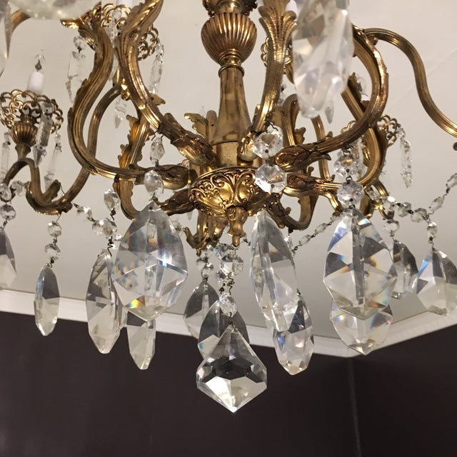 20th Century Hand Cut Lead Crystal Chandelier For Sale - Image 4 of 11