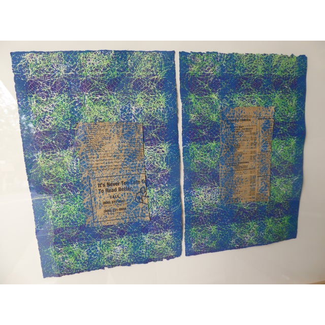 Contemporary Abstract Newspaper Print For Sale - Image 4 of 11