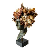 Image of Seashell Encrusted Greek Head For Sale
