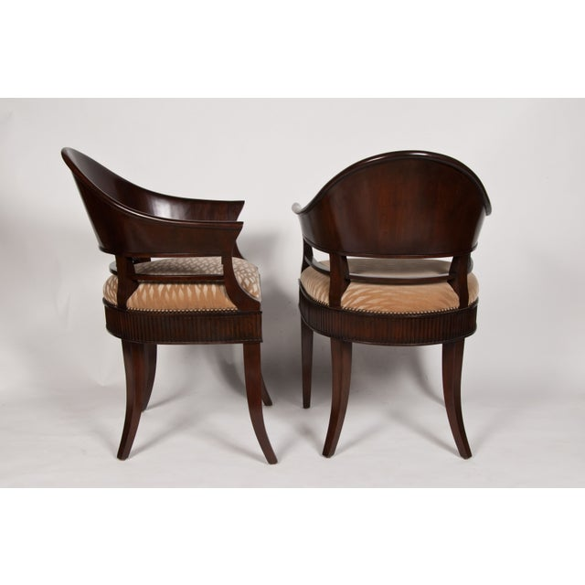 Solid Mazzard James Jennings Chairs - Pair of 2 For Sale - Image 5 of 5
