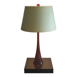 Ruby Blown Glass Table Lamp For Sale