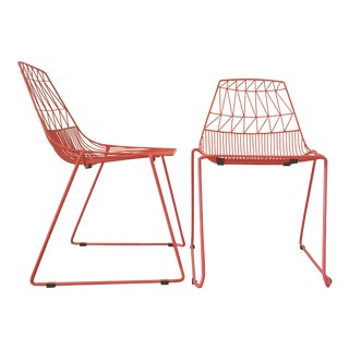 Ben Goods Contemporary Wire Chairs - a Pair For Sale