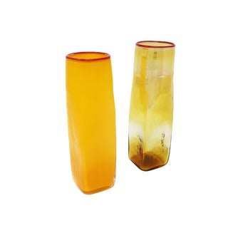 Pair of Studio Glass Vases by Bill Burch for Pinzette Glassworks For Sale