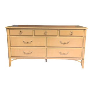 1960s Faux Bamboo Dresser by Thomasville For Sale