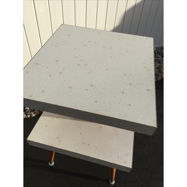 Mid-Century Two-Tier Formica Starburst Side Table - Image 8 of 8