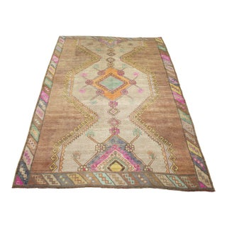 *Naqshi 5x7 Antique Beautiful Eastern Turkish Village Vintage Area Rug For Sale