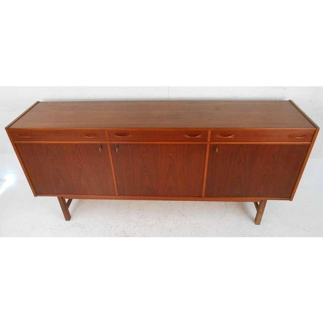 Here is a beautiful teak credenza manufactured in Sweden in the 1960 par Ulferts of Tibro and recently imported to...