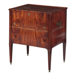 Antique 18th C George III Mahogany Bedside Cupboard For Sale