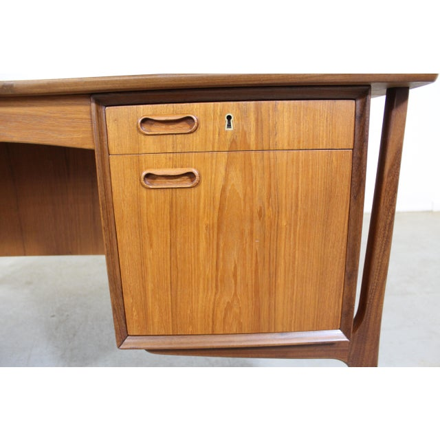 Brown Mid-Century Danish Modern Svend Aage Madsen Teak Desk For Sale - Image 8 of 12