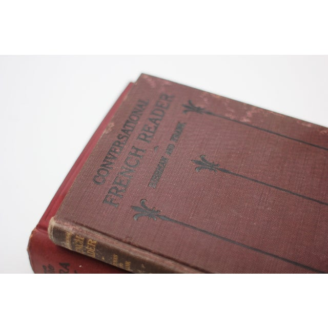 Antique Burgundy Books - A Pair - Image 4 of 9