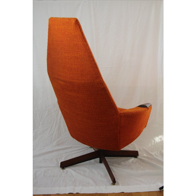 Adrian Pearsall Orange Highback Lounger - Image 4 of 5
