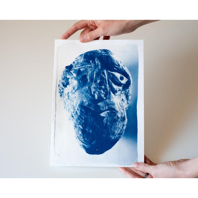 Cyanotype Print - Rock Face Sculpture - Image 3 of 5