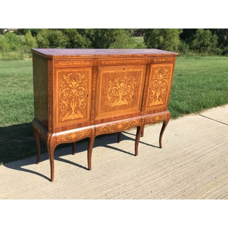 19th Century English Traditional Marquetry Dry Bar Cabinet Preview
