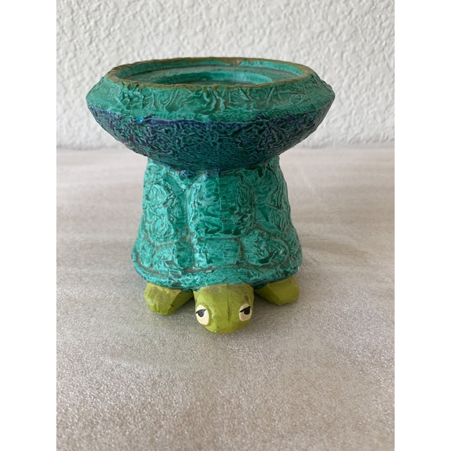 Midcentury Turtle Ceramic Candleholder For Sale - Image 11 of 11
