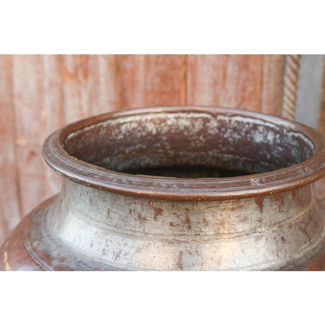 British Colonial Rajasthani Lota Water Pot For Sale - Image 3 of 6