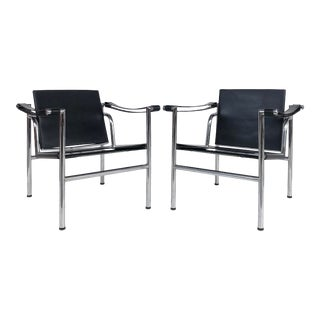 Le Corbusier Lc1 Basculant Chairs by Charlotte Perriand & Pierre Jeanneret-A Pair