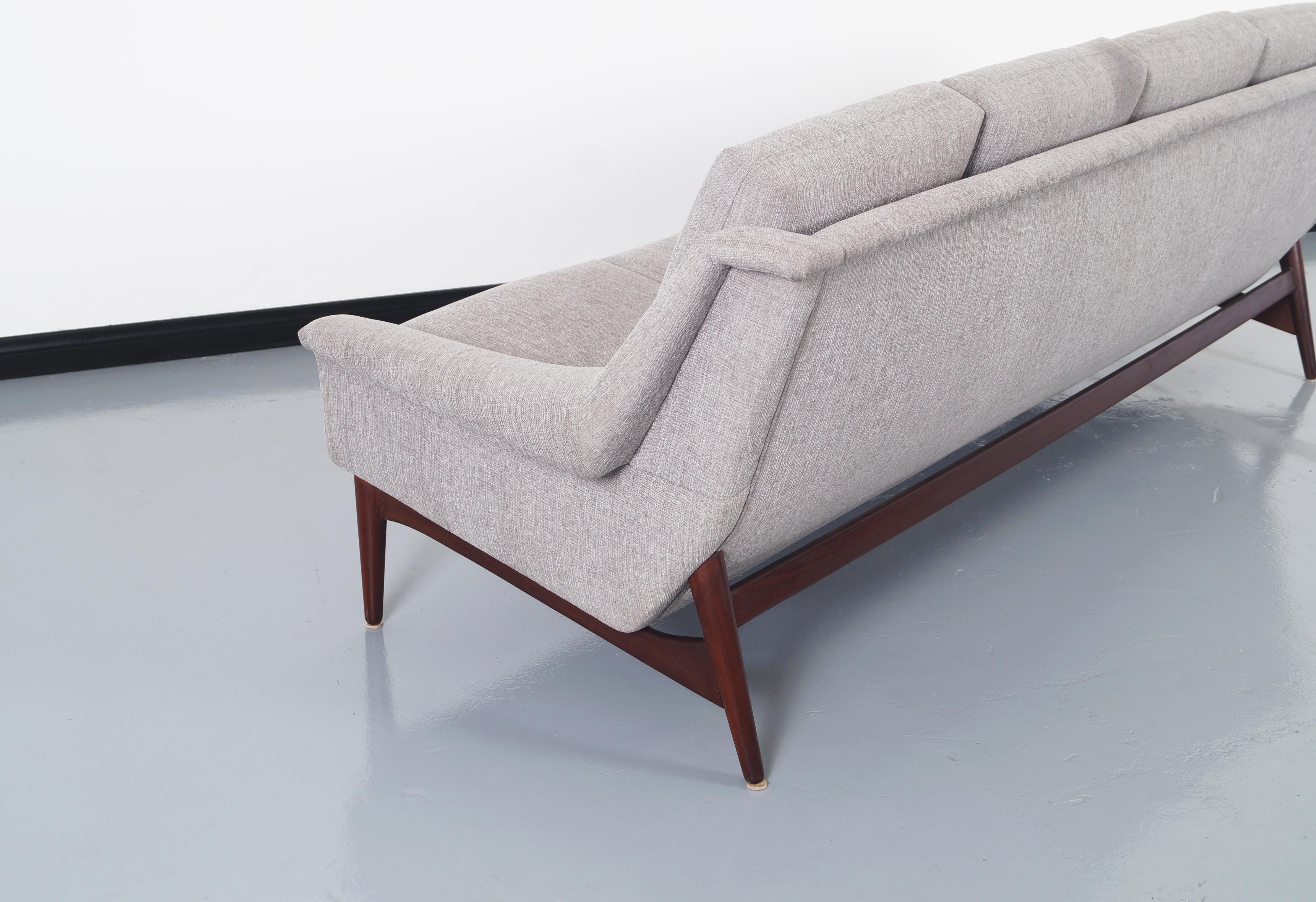 Danish Modern Teak Sofa For Sale In Los Angeles   Image 6 Of 8