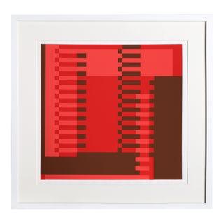 Josef Albers - Portfolio 1, Folder 22, Image 1 Framed Silkscreen For Sale