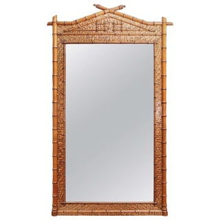 Early 19th Century Bamboo Mirror For Sale