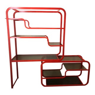 1970s Mid Century Modern Painted Metal Etagere For Sale