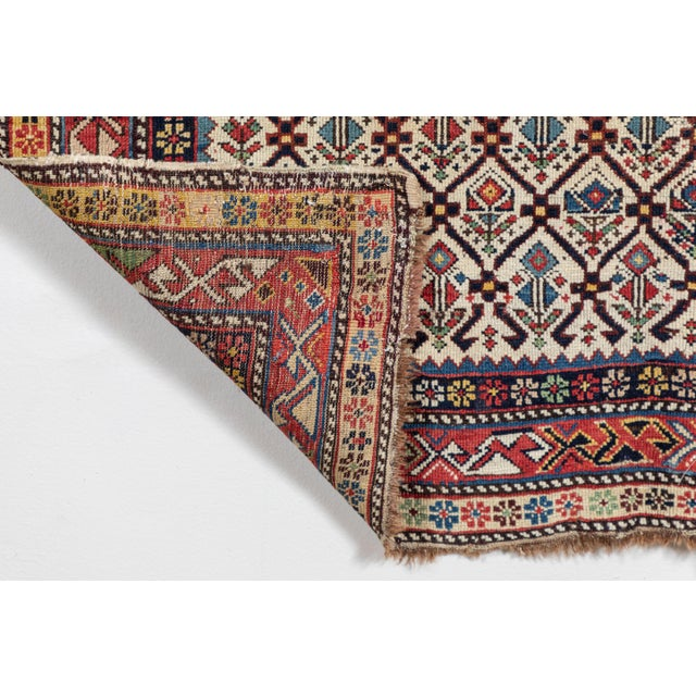 White Shirvan 19th Century Caucasian Rug - 3′11″ × 5′6″ For Sale - Image 8 of 9