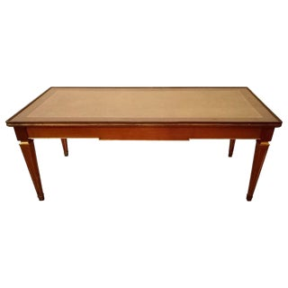 Louis XV Style Glass Top Jansen Style Coffee Table For Sale