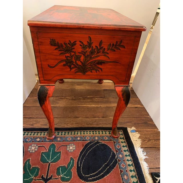 Chelsea House Inc Chelsea House Tomato Red Chinoiserie Chest of Drawers For Sale - Image 4 of 13