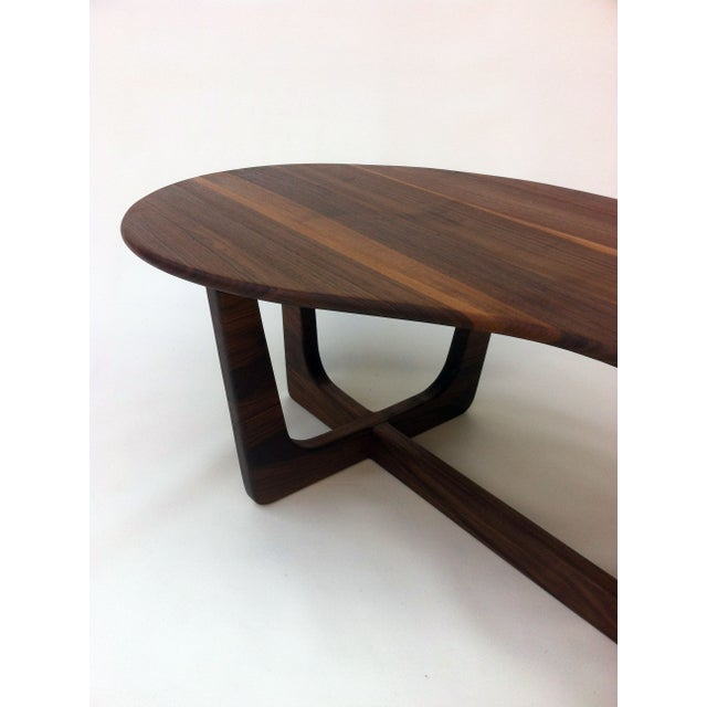 Pearsall Style Walnut Kidney Bean Cocktail Table - Image 4 of 6