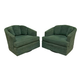 Mid Century Swivel Club Chairs by Kaylyn, a Pair For Sale