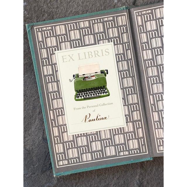 "2020s ""Irish Typewriter"" - Illustrated Large Bookplates - Set of 5 For Sale - Image 5 of 6"