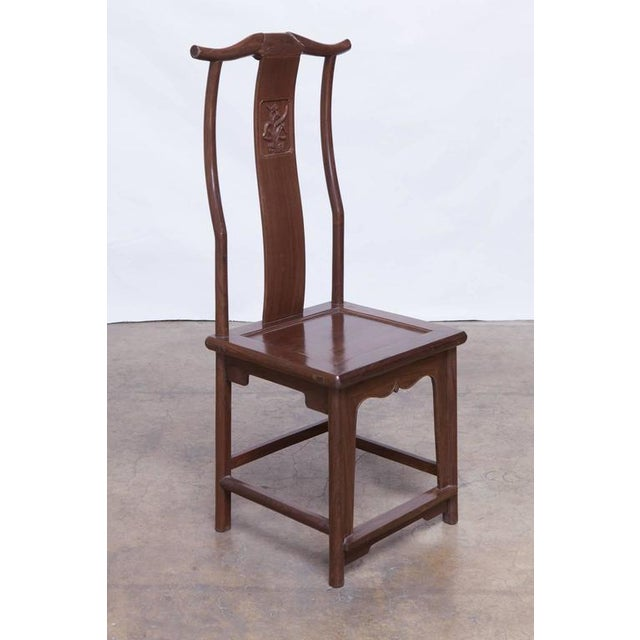Chinese Yoke Back Officials Hat Chairs - Set of 6 - Image 5 of 10