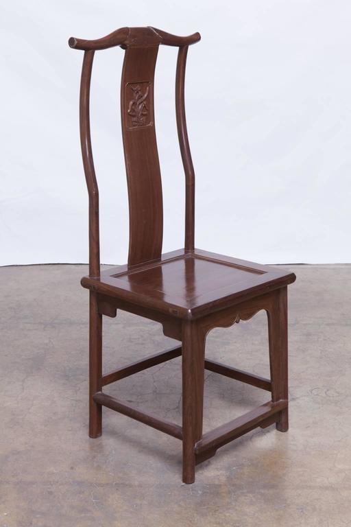 Chinese Yoke Back Officials Hat Chairs   Set Of 6   Image 5 Of 10