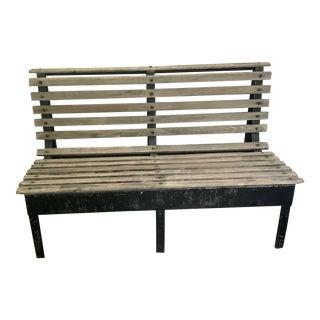 Vintage Mid Century Garden Bench For Sale