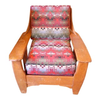 1940 Newly Upholstered Cowboy Chair