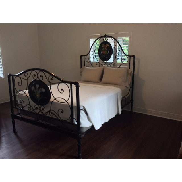Ornate Iron Queen Size Bed - Image 2 of 5
