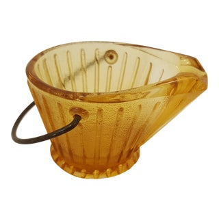 Golden Coal Pail Shaped Ash Tray For Sale