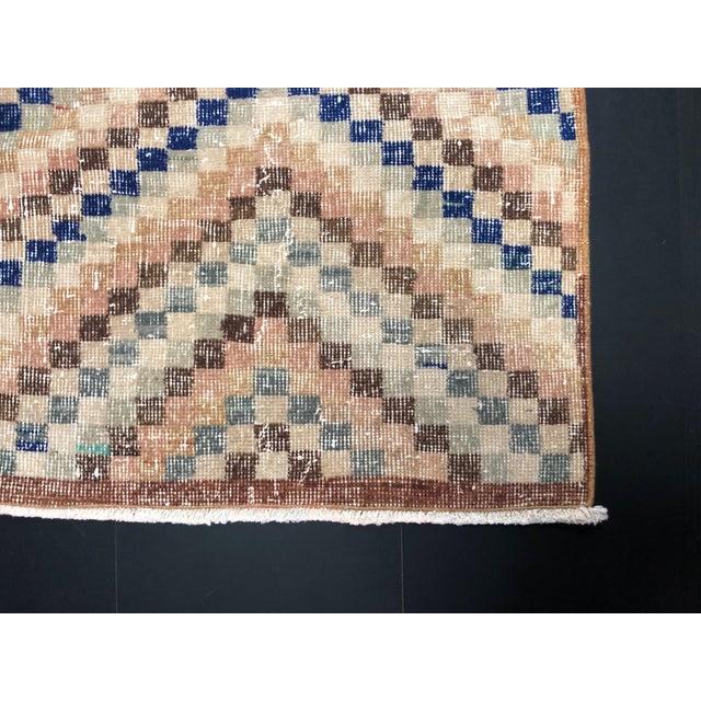 Vintage Geometric Design Turkish Anatolian Wool Runner For Sale - Image 9 of 11