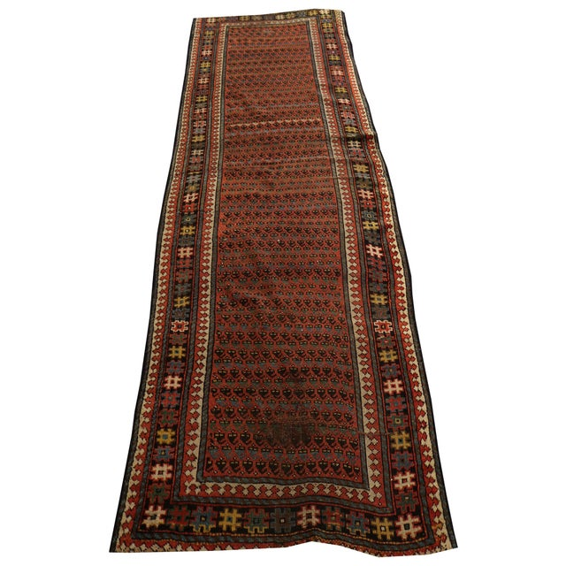 Antique Kurdish Persian Hallway Runner Rug - 3′8″ × 9′ - Image 1 of 4