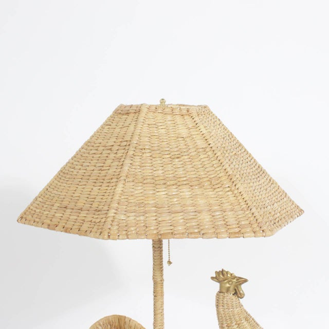 Early 21st Century Mario Torres Rooster Table Lamps - A Pair For Sale - Image 5 of 8