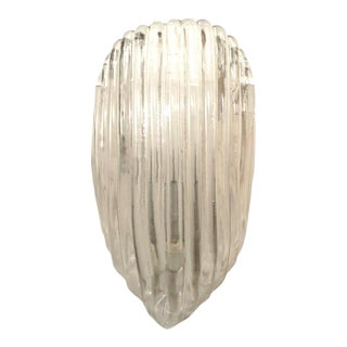 Italian 1940s Venetian Murano Wall Sconce Attributed Barovier E Toso For Sale