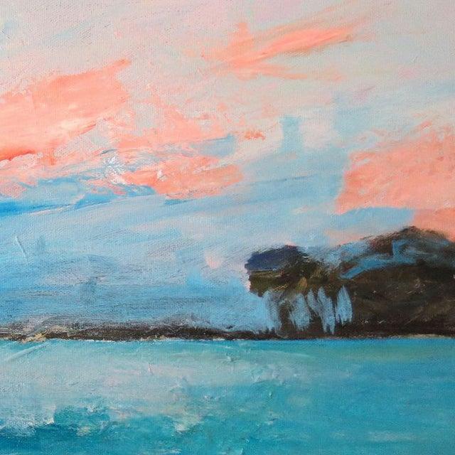 """Mary Houston Acrylic on Canvas """"Textured Sunset"""" - Image 2 of 2"""