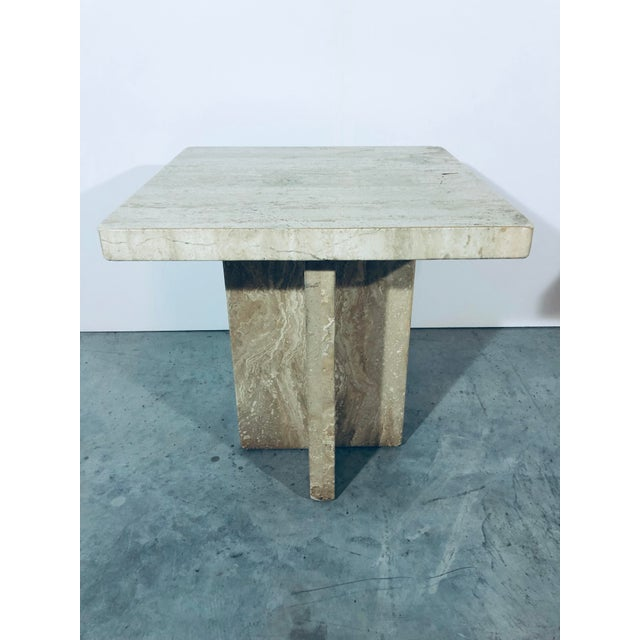 1970s Italian Travertine Side Tables - a Pair For Sale - Image 4 of 13