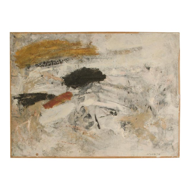 Mid 20th Century Abstract Oil Painting by Newton Haydn Stubbing For Sale