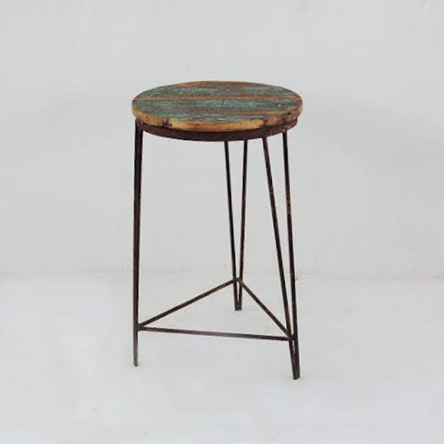 Reclaimed Wood & Iron Stool - Image 3 of 3