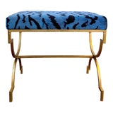 Image of Scalamandre Le Tigre Stool For Sale