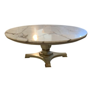 1970s Antique Marble Round Coffee Table For Sale